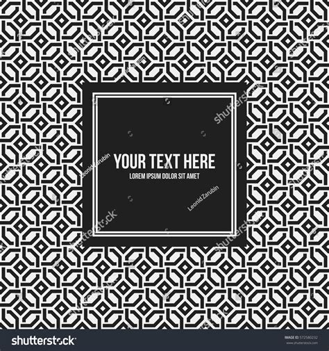 text pattern websites text frame template monochrome pattern useful stock vector