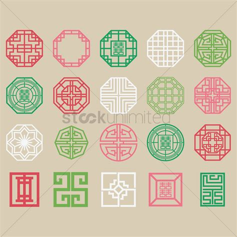 korean pattern vector free set of traditional korean patterns vector image 2014951