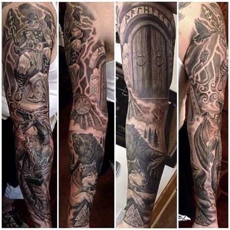 viking sleeve tattoos 1000 ideas about viking sleeve on