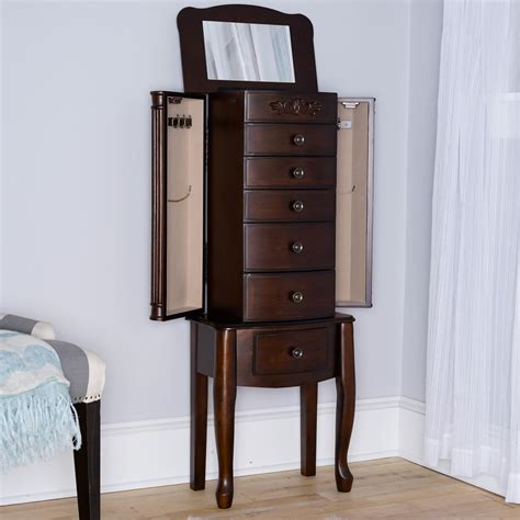 morgan jewelry armoire morgan jewelry armoire dark walnut hives and honey