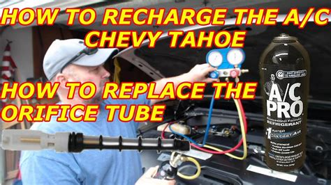 recharge  ac   chevy tahoe   replace