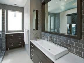 grey bathrooms ideas choosing a bathroom backsplash hgtv