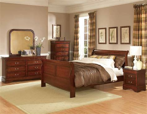 distressed cherry formal dining room set w microfiber seats chateau bedroom 549 distressed cherry by homelegance w options