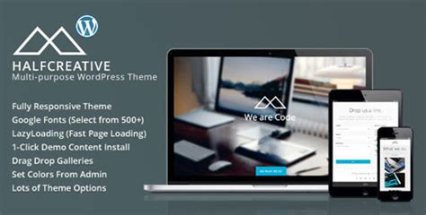 themeforest pages halfcreative themeforest one page portfolio wordpress