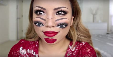 makeup tutorial two face makeup artist will make you see double with her two face