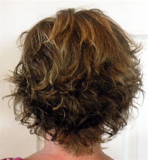 curly shags for women over 50 layered shag hairstyles showing front and back pictures