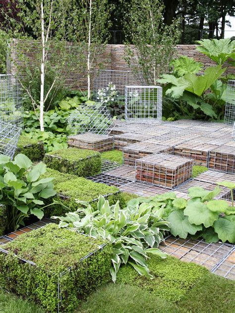 Landscape Mesh Landscaping With Wire Mesh Crates Hgtv