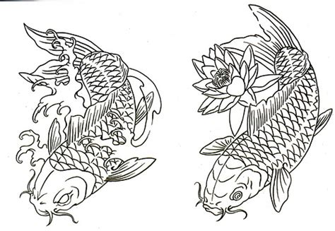 koi tattoo outline koi fish tattoo enjoy