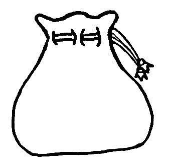 santa bag coloring page empty sack clipart 1978722