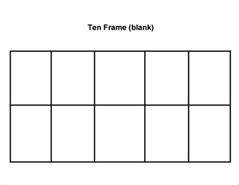 10 frame template printable 5 best images of pumpkin ten frames printables