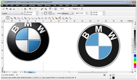 tutorial membuat logo xl corel draw tutorial cara membuat logo bmw dengan corel draw k tutorial