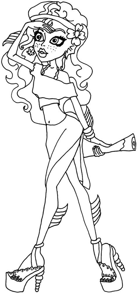 monster high coloring pages deviantart lagoona blue bw by elfkena