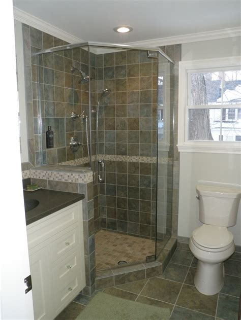small condo bath custom tile shower bathrooms