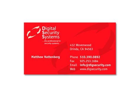 security systems business card template to and from printable new calendar template site
