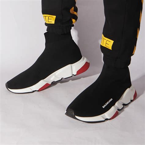 balenciaga speed trainers  tricolor solesneakers