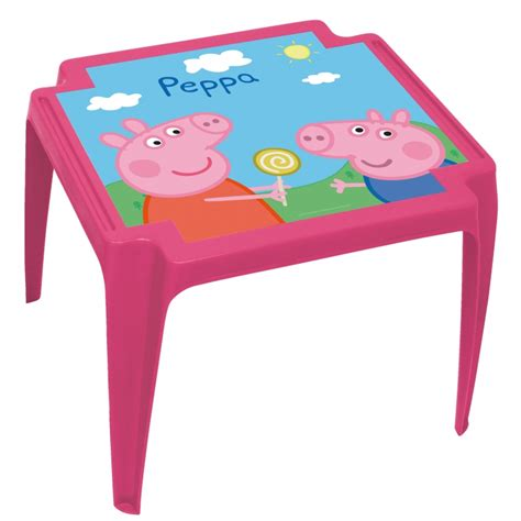 peppa pig table and chairs with umbrella hurtownia gatito