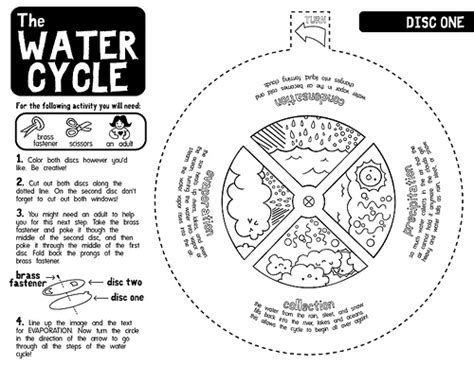 water cycle coloring page kindergarten water cycle worksheets b w black and white version