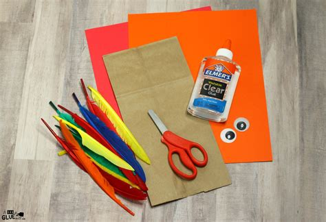Craft Paper Store - how to make a paper bag turkey craft for thanksgiving