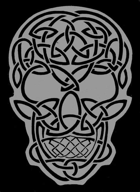 celtic skull celtic skull by theraevyn13 celtic
