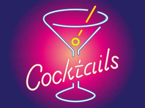 martini bar sign cocktail neon