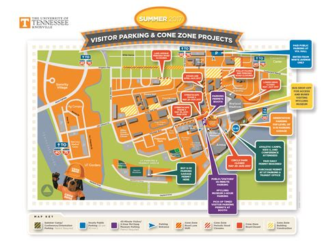 Of Tennessee Knoxville Mba Location by Summer 2017 Cone Zone Parking Map Rev June 6 The