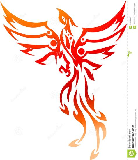 phoenix tattoo tribal stock illustration illustration of