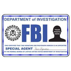fbi business card templates id cards templates template fbi badge sep 17