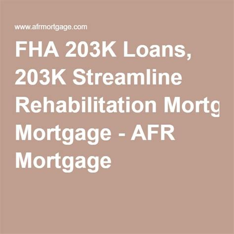 fha 203k loans 203k streamline rehabilitation mortgage