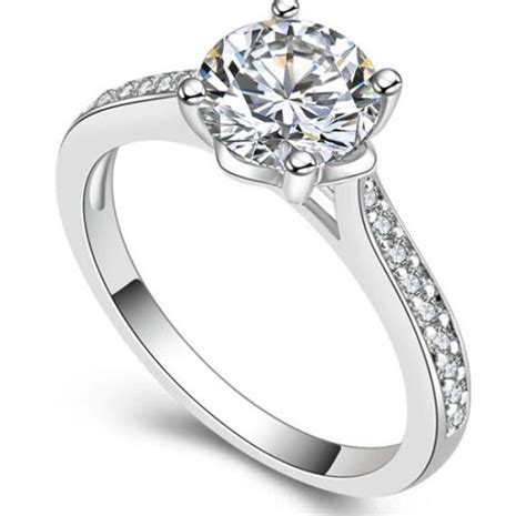 size 6 7 8 jewelry 24k white gold plated aaa cubic