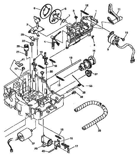 typewriter parts diagram carrier mechanism diagram parts list for model gx6750