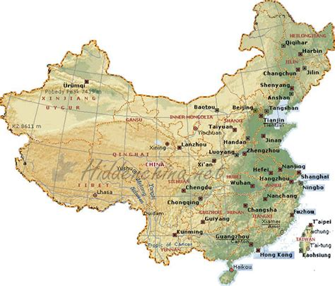 map of china cities detailed map of china with cities