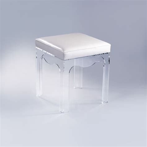 clear acrylic vanity stool 212 best images about glass lucite acrylic on