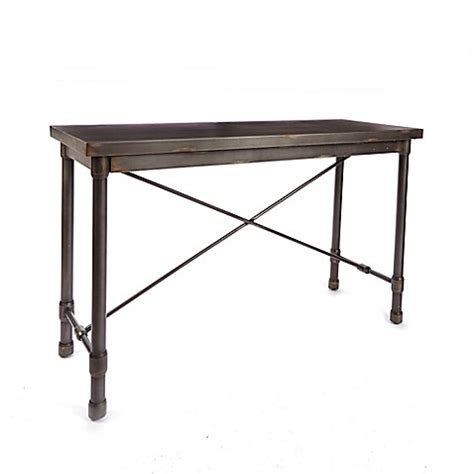 bed bath and beyond sofa table silverwod oxford industrial collection console table bed