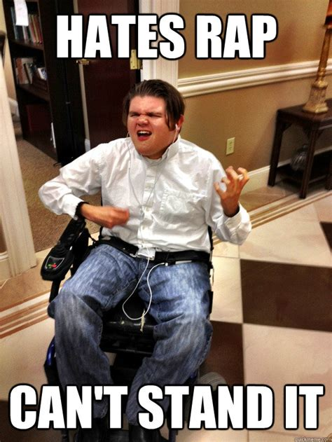 Wheelchair Meme - wheelchair rock guy memes quickmeme