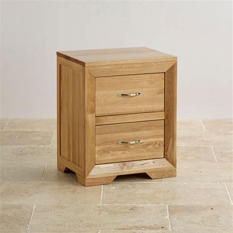bedside cabinets bevel natural solid oak 2 drawer bedside cabinet