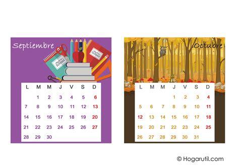 Calendario De Septiembre 2015 Calendario De Mesa 2015 Meses De Septiembre Y Octubre En