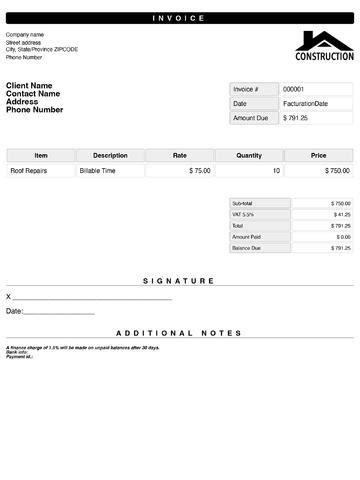 quick invoice template invoice exle