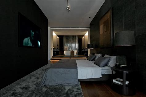 dark bedrooms stylish dark toned interior in istanbul designed by tanju