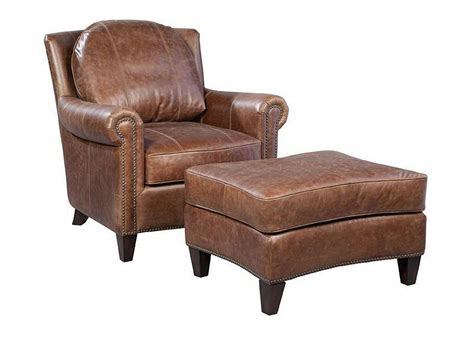 Accent Chair Leather Vintage Brown Leather Accent Chair With Nails Club Furniture
