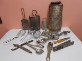 lot of 14 vintage antique kitchen utensils gadgets