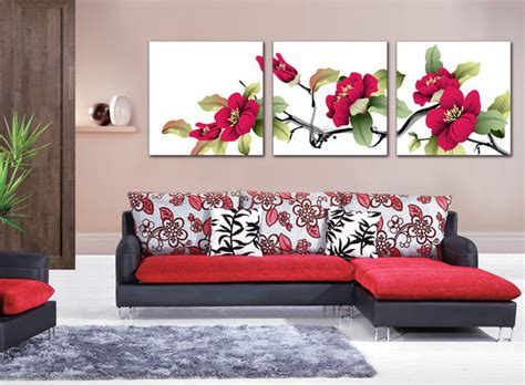 living room canvas coast rhododendron flower painting canvas pictures
