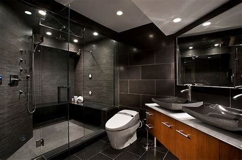 all black bathroom all black bathroom interior home ideas pinterest all
