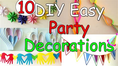 party themes easy 10 diy easy party decorations ideas ana diy crafts