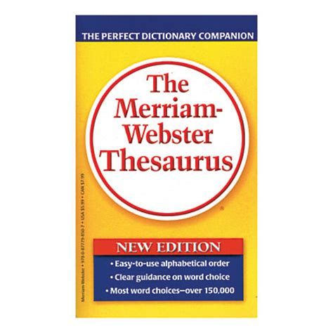 Office Supplies Synonym Merriam Websters Thesaurus Pack Of 3 By Office Depot