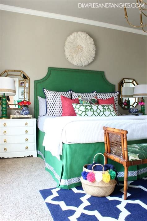 green and navy bedroom master bedroom refresh pink master bedroom preppy