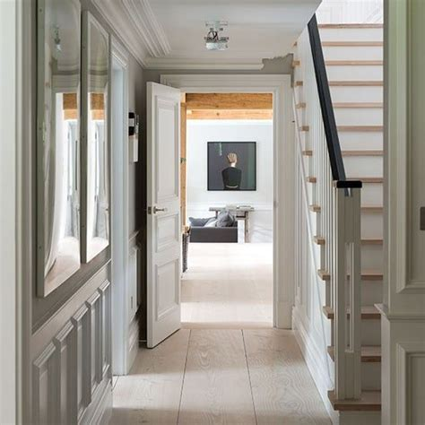 traditional pale neutral hallway traditional hallways and hallway flooring
