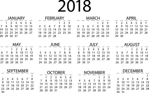 printable calendar 2018 time and date 2018 calendar download quality calendars