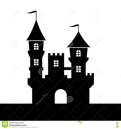 Castle Wall Stickers castle silhouette icon on white background vector stock