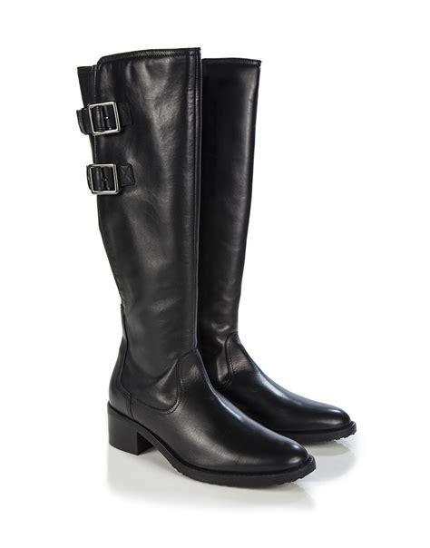 clarks s valana diem knee high boots black leather