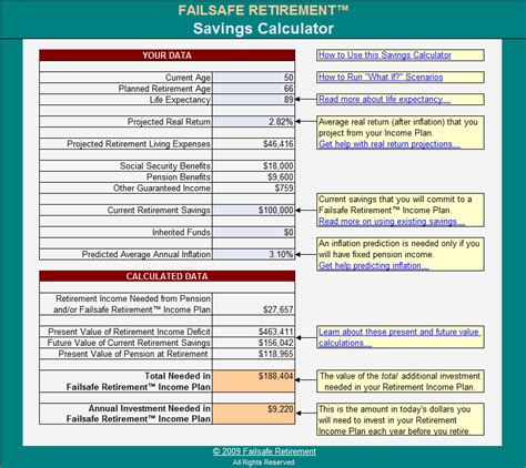 Retirement Worksheet by Creating A Plan For Guaranteed Retirement Income Go To